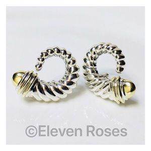 David Yurman Sterling 14k Shrimp Earrings